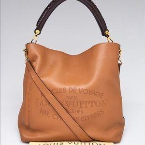 Auth Louis Vuitton Bagatelle Camel Parnassea